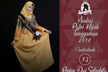 Revina, Kader PAC IPPNU Talangpadang Delegasi Lomba Putri Hijab Tanggamus