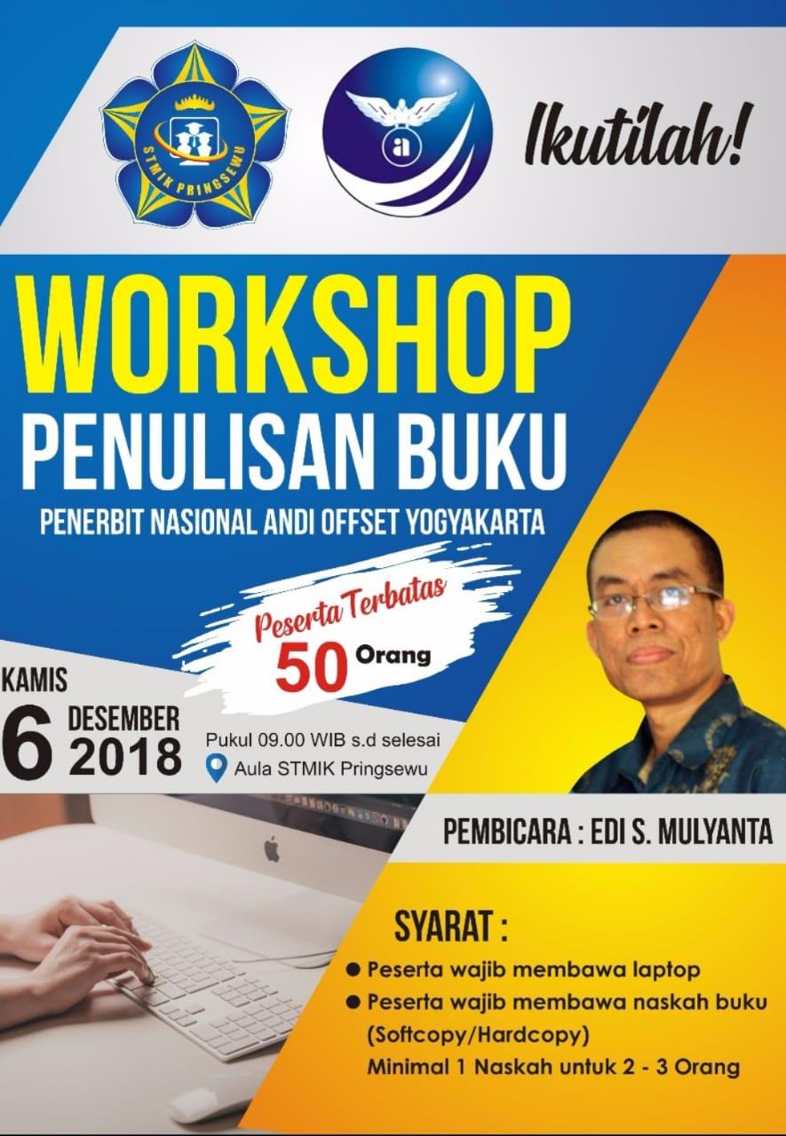 Besok, STMIK Pringsewu Siap Gelar Workshop Penulisan Buku