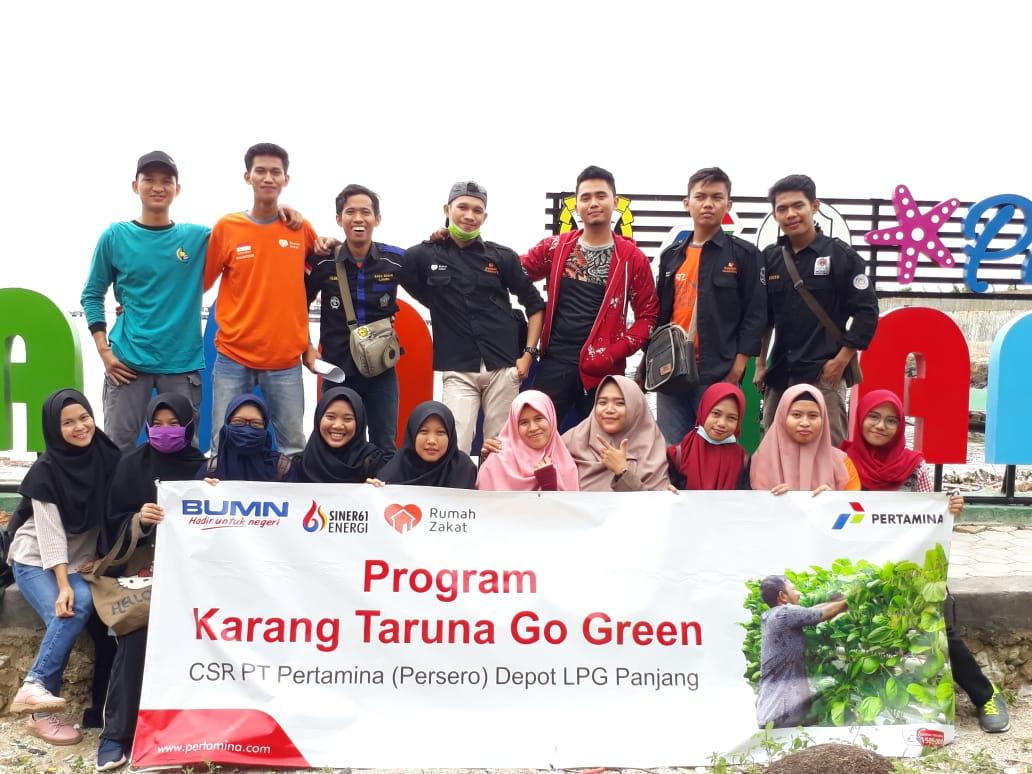 PT. Pertamina Bersama Rumah Zakat Tuntaskan Masalah Sampah di Kelurahan Panjang Utara