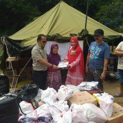 PWI Tulang Bawang Salurkan Bantuan ke Lampung Selatan