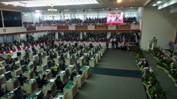 DPRD Lampung Gelar Paripurna Sambutan Gubernur Lampung Arinal