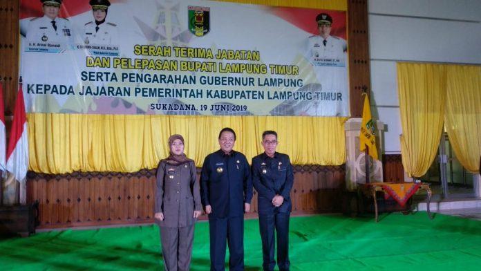 Gubernur Arinal Pimpin Sertijab Bupati Lampung Timur