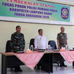 Sekda Lampung Barat Buka Pembekalan Teknis Tugas Pol PP