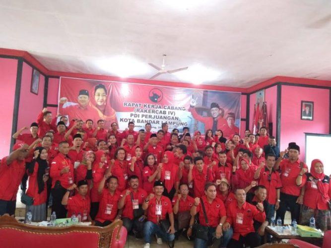Jelang Berakhirnya Masa Jabatan Ketua, DPC PDIP Bandarlampung Gelar Rapat Kerja