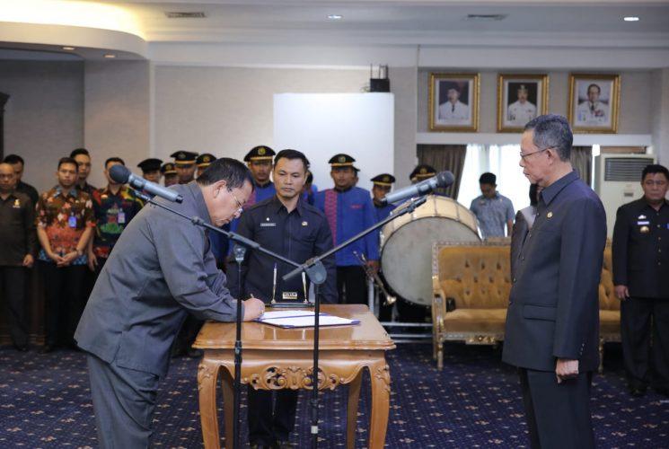 Gubernur Arinal Lantik Fahrizal Darminto sebagai Penjabat Sekda Provinsi Lampung