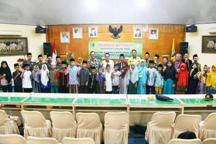 Plt Bupati Zaiful Lepas Kontingen Ikuti PORSADIN Tingkat Provinsi
