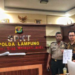 Oknum Karyawan PT HK (BUMN) Diduga Kangkangi UU Pers, Pemred Ampera News Resmi Laporkan ke Polda Lampung