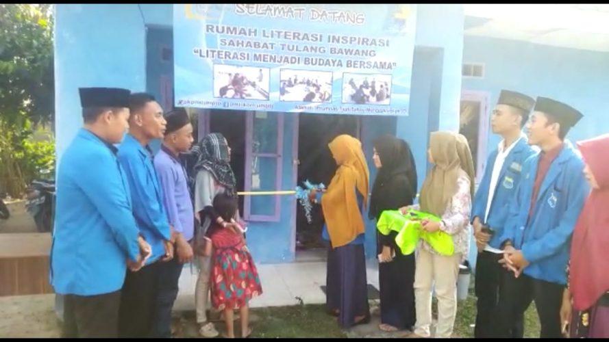 Ketua Kopri PC PMII Tulang Bawang Launching Rumah Literasi