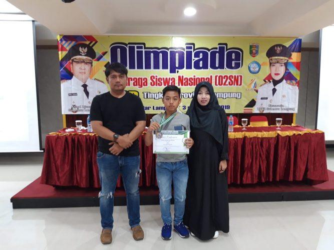 Caesar Agatha, Anak Polisi Peraih Perunggu di O2SN Tingkat Provinsi Lampung