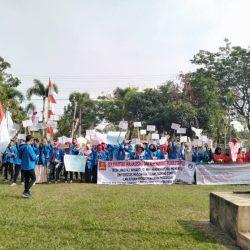 Demo Puluhan Mahasiswa Universitas Megow Pak Tulang Bawang, Bupati Winarti Kabur?
