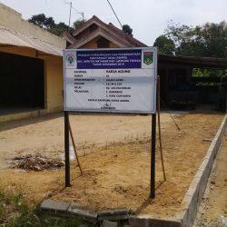 Pembangunan Fisik Dana Desa 2019 di Kampung Varia Agung Seputih Mataram Diduga Asal Jadi