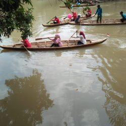 HUT RI ke-74, Kampung Tanjung Dalam Meriahkan dengan Lomba Perahu Dayung