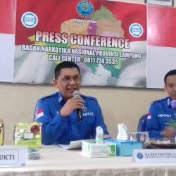 BNNP Lampung Ekspose Peredaran Narkotika Asal Aceh