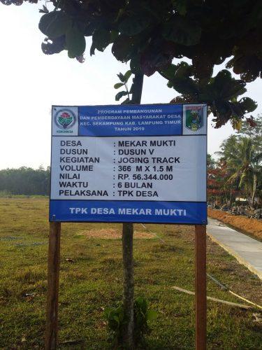 Desa Mekar Mukti Fokus Bangun Drainase dan Joging Track