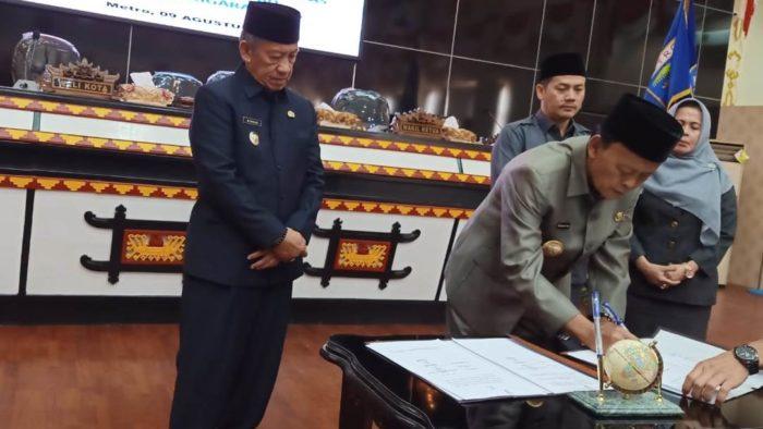 DPRD Metro Gelar Paripurna Penandatanganan Kebijakan Umum Anggaran