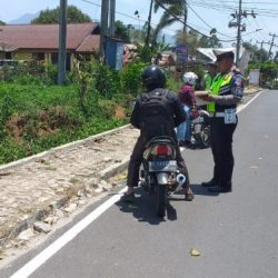 Hari Pertama Operasi Zebra, Satlantas Polres Lampung Barat Tilang 125 Pengendara