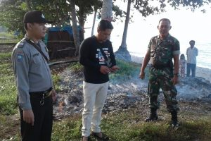 9 Unit Perahu Nelayan Terbakar di Pantai Pekon Kerta