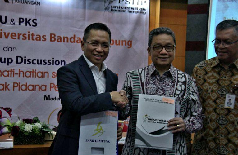 UBL dan Bank Lampung Lakukan Tanda Tangan MoU & PKS