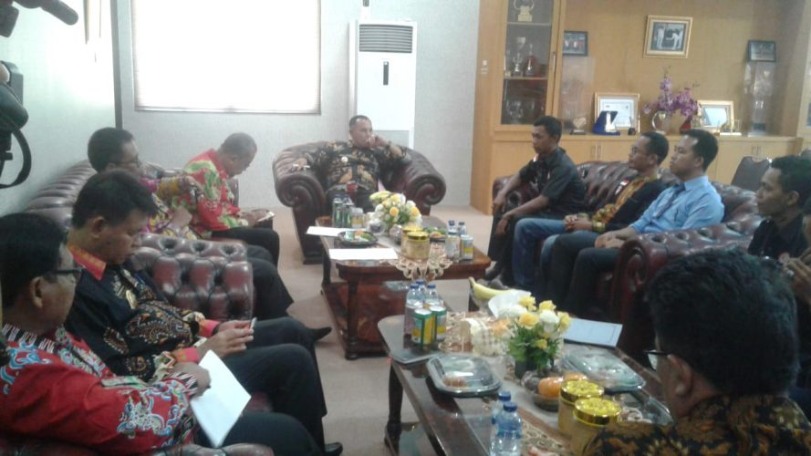 Setelah Dikukuhkan, FPII Korwil Lampung Selatan Melakukan Audensi dengan Plt. Bupati