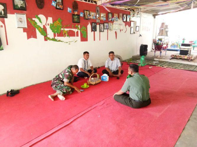 Danramil 410-05/TKP Lakukan Silaturahmi ke Ponpes Al-Karomah Bathiniah