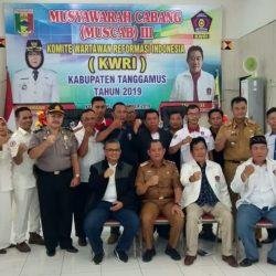 Muscab III KWRI Tanggamus, Yusup Afrizal Terpilih Sebagai Ketua Hasil Aklamasi