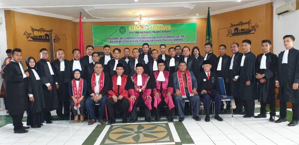 Pengadilan Tinggi Tanjung Karang Mengambil Sumpah 24 Advokat PAI