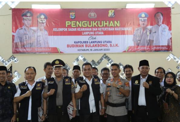 AKBP Budiman Sulaksono Resmi Mengukuhkan 42 Anggota Pokdar Kamtibmas