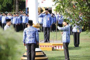 Pemkab Lampung Utara Gelar Apel Bulanan