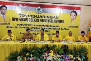 Pemaparan Visi Misi Balonkada Lampung Dihadiri DPP Partai Golkar