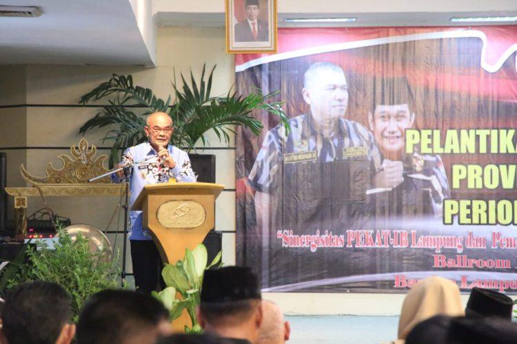 Pelantikan Pengurus Pekat-IB Provinsi Lampung, Gubernur Arinal Minta Pengurus Organisasi Bersinergi Bangun Lampung