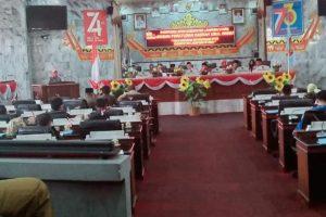 DPRD Lampura Gelar Rapat Paripurna Internal Pembahasan Tiga Raperda