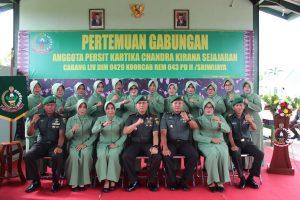 Kodim 0429/Lamtim Gelar Pertemuan Gabungan Anggota Persit KCK Cabang LIV