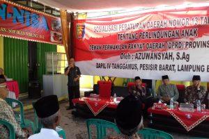 Anggota DPRD Provinsi Lampung Lakukan Sosialisasi Perda di Tanggamus